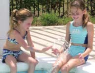 Two girls play at a pool in Carolina Forest, Myrtle Beach