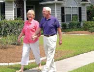 Carolina Forest is a great place for Seniors to relax, take walks like this couple