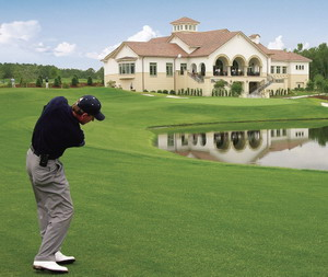 Golfing at Grande Dunes - Golfers love teeing off along the Intracoastal's glistening waters