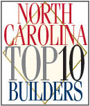 North Carolina Top 10 Builders logo